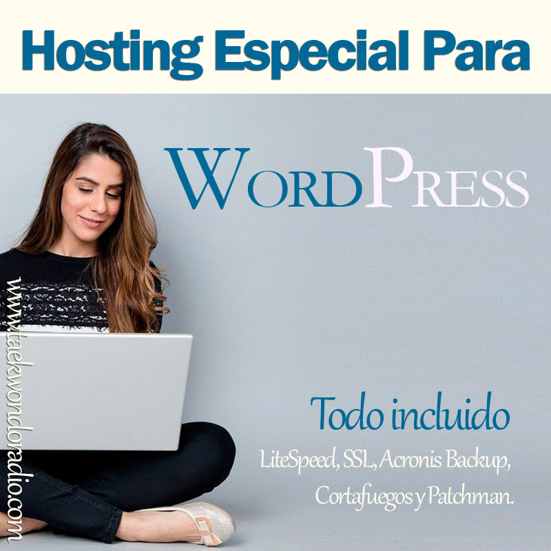 Hosting para Word Press especial garantizado