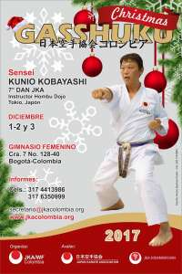 La JKA (Japan Karate Association / World Federation) Colombia realizará el CHRISTMAS GASSHUKU 2017