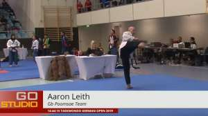 Taekwondo Poomsae - Open de Alemania. GOP 2019 Freestyle Aaron Leith, Gb Poomsae Team - Hamburger Sportfreund­e HSF