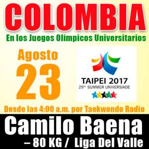 Calendario de competencias Juegos Olímpicos Universitarios – China Taipei 2017 / FISU